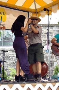 Andre Veloz at Lowell Folk Festival 2014. Bachatera