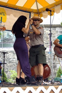 Andre Veloz at Lowell Folk Festival 2014. Bachatera